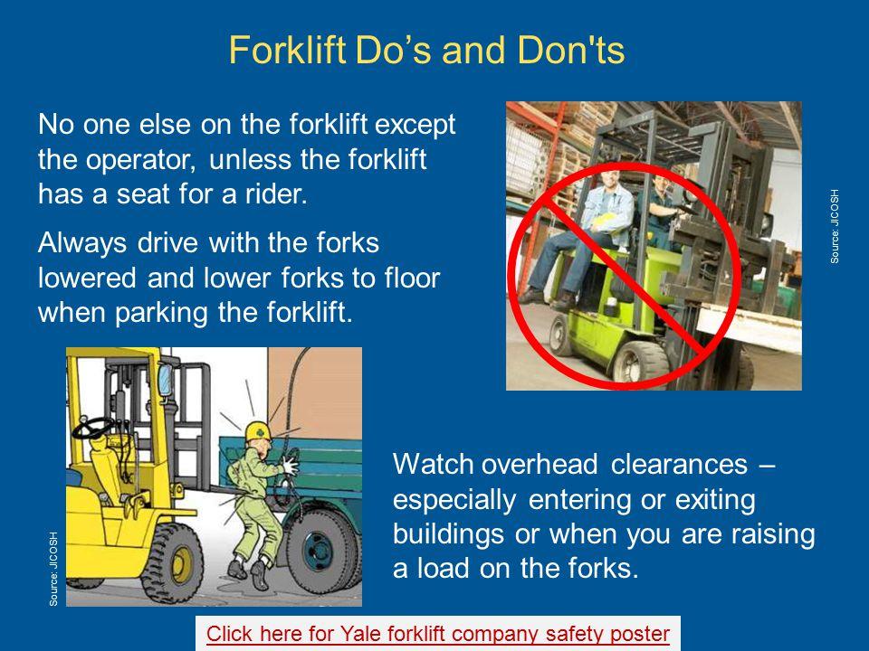 Safe Operation of Forklifts - ppt download