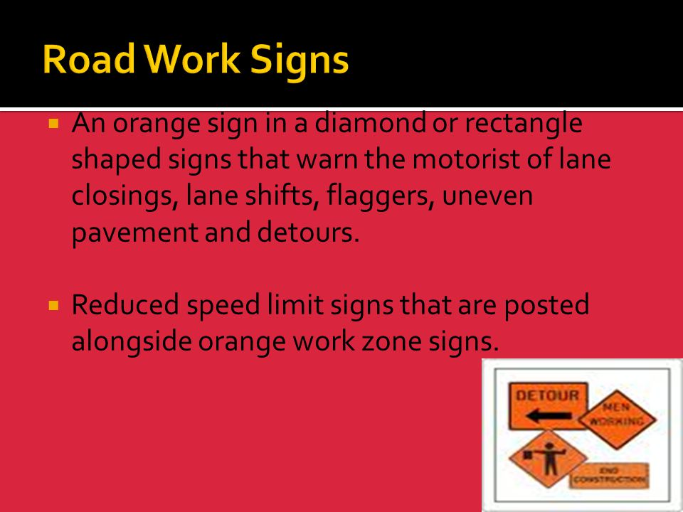 Road Work Signs