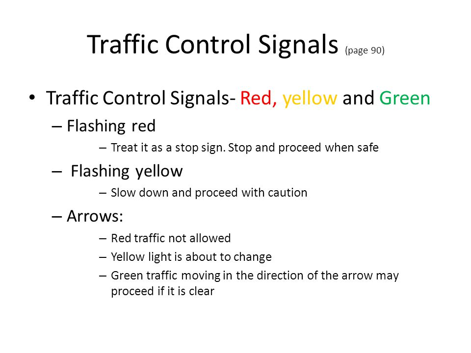 Traffic Control Signals (page 90)
