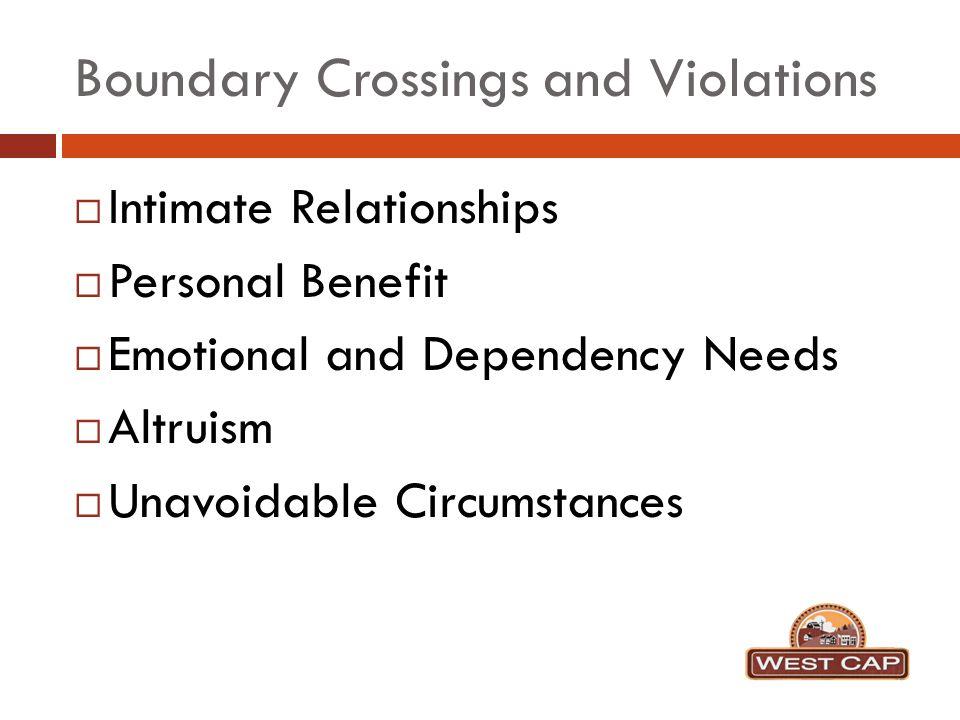 crossing emotional boundaries