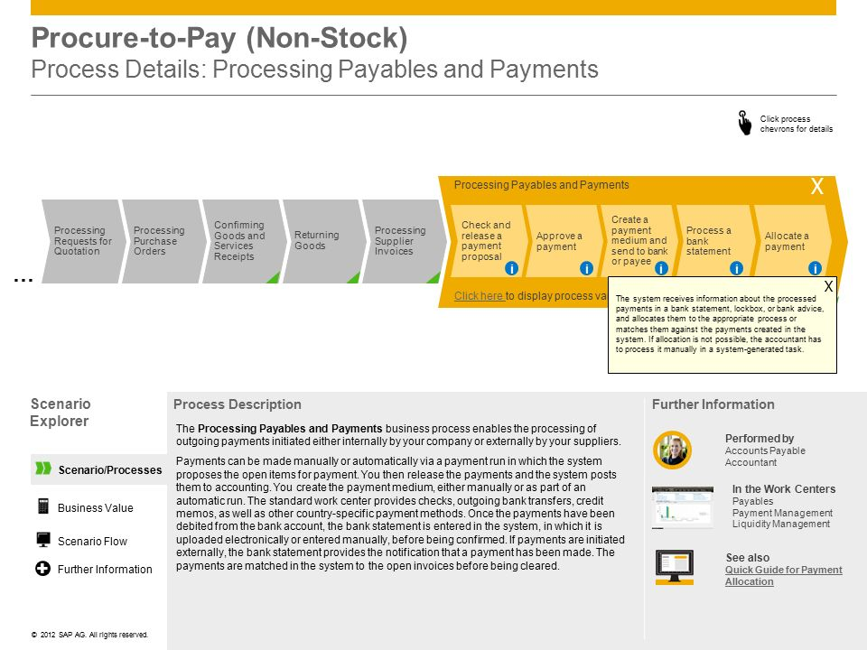 Procure-to-Pay (Non-Stock) Process Details: Processing Payables and Payments