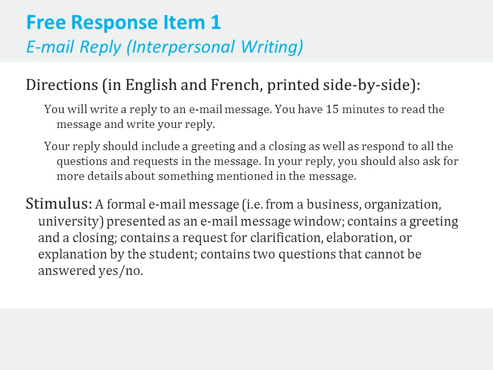 AP French Language and Culture Exam Information - ppt video