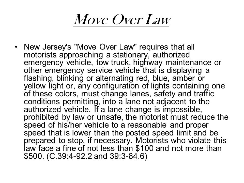 Move Over Law
