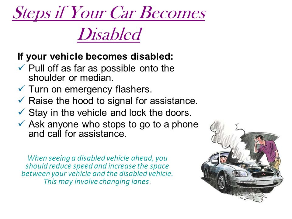 Steps if Your Car Becomes Disabled