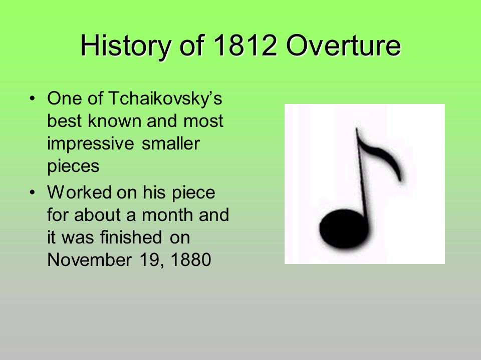 All Music Chords 1812 overture music sheet : Peter Tchaikovsky ppt download