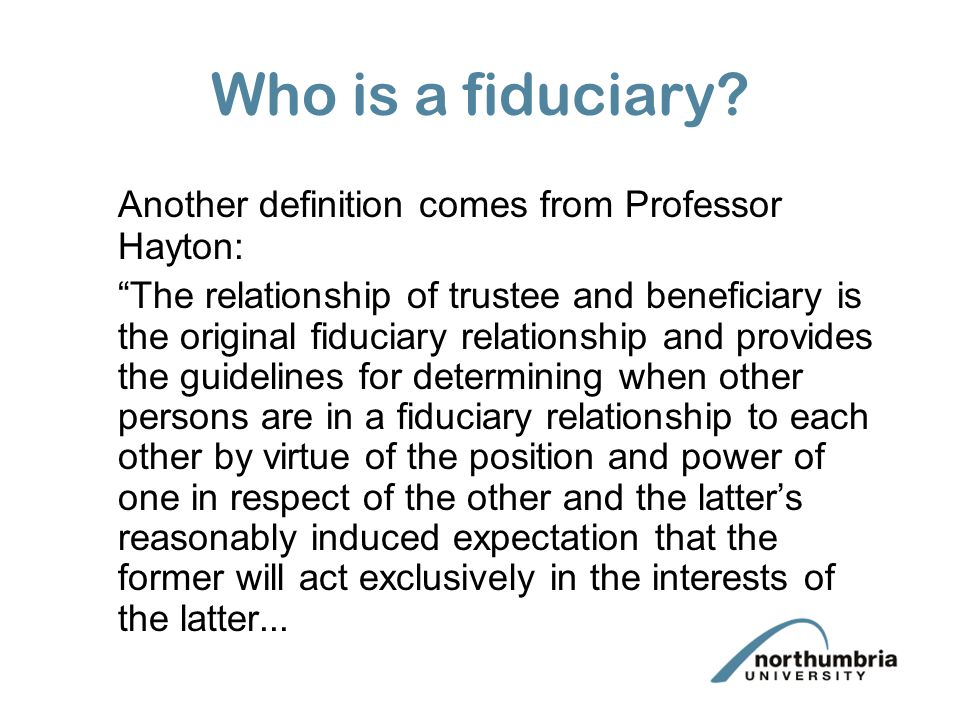 Trustees 3 Fiduciary Duties Ppt Video Online Download