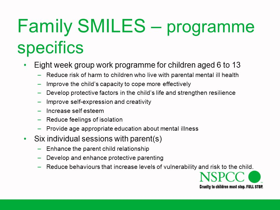 Family SMILES – programme specifics