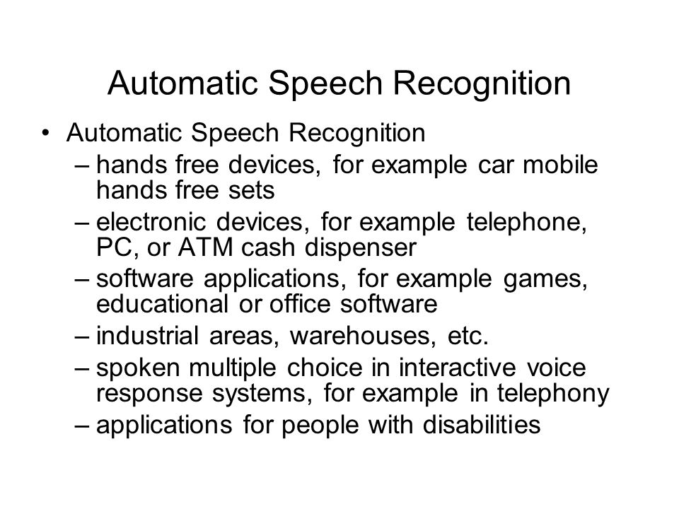 Speech Recognition and Hidden Markov Models - ppt video