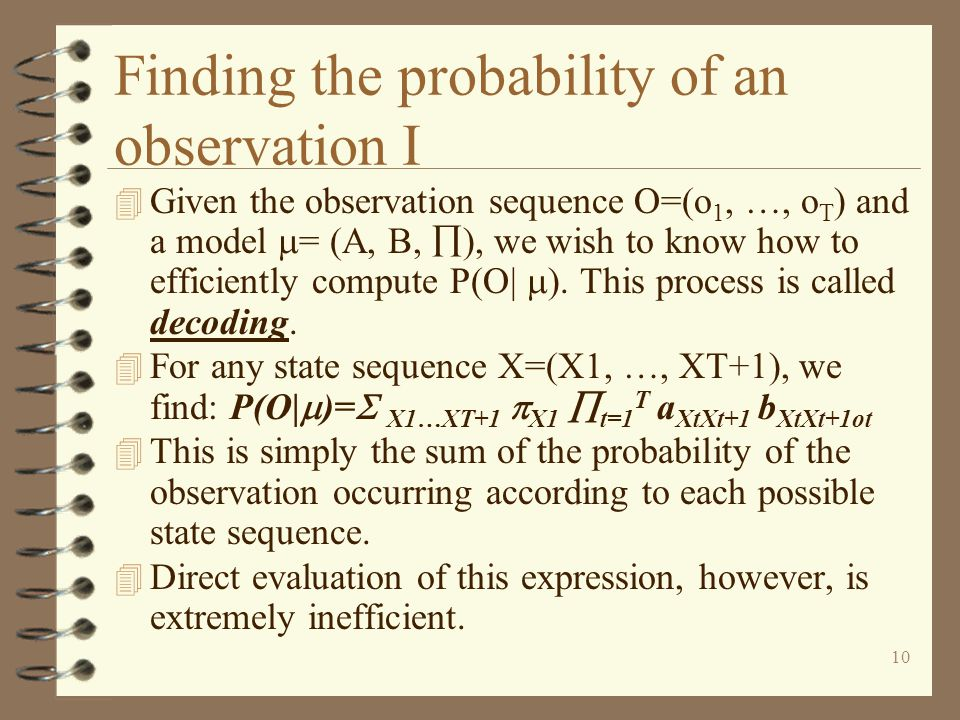 Finding the probability of an observation I