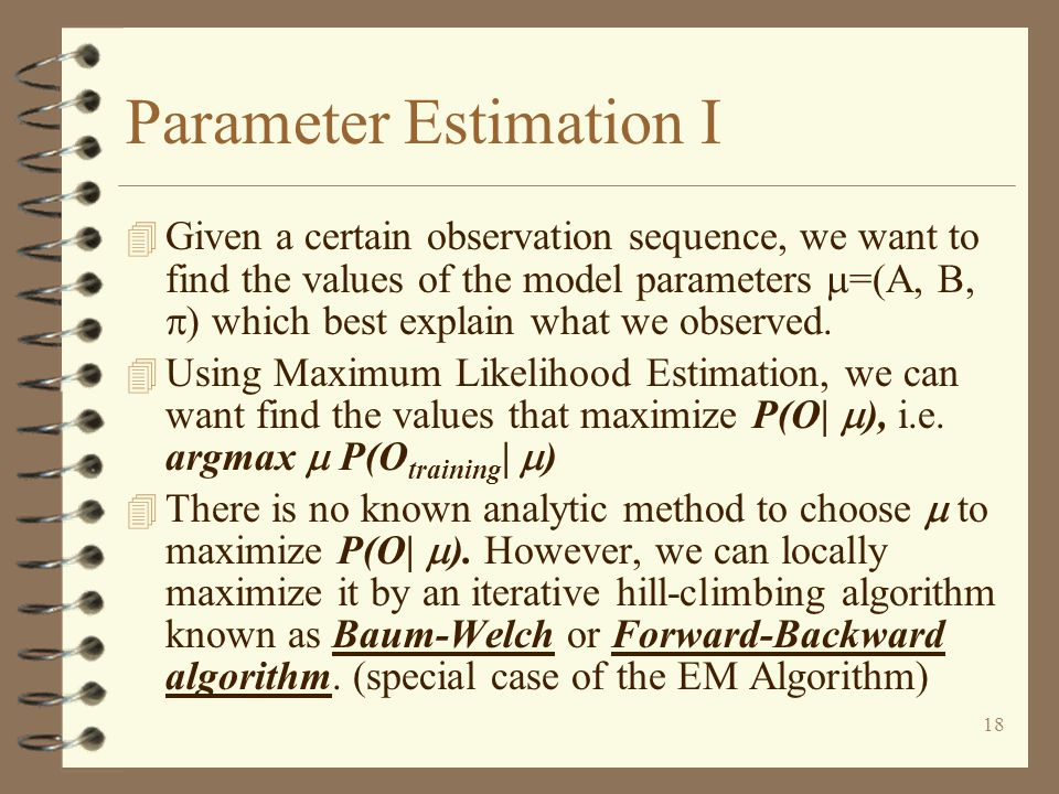 Parameter Estimation I