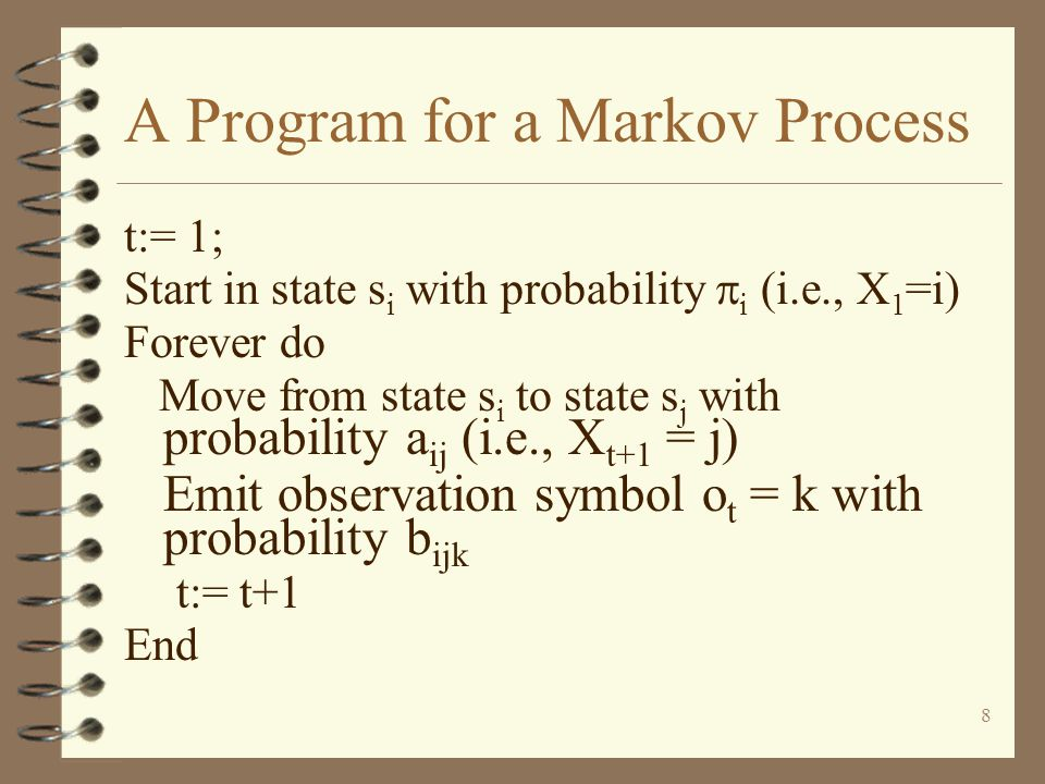 A Program for a Markov Process