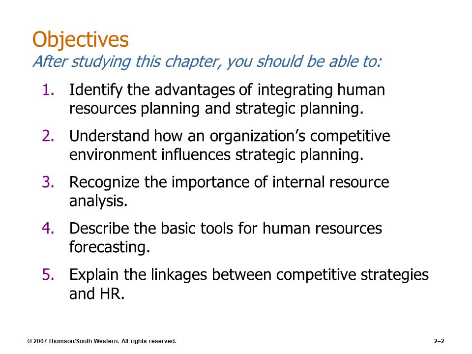 how does human resource planning influence an organization