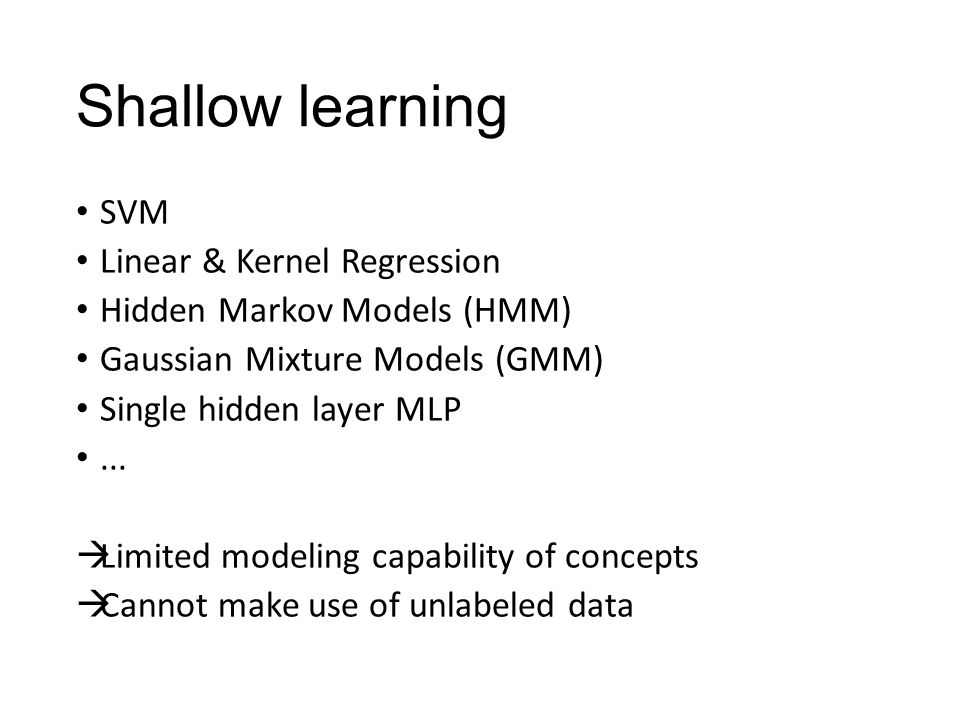 Shallow learning SVM Linear & Kernel Regression
