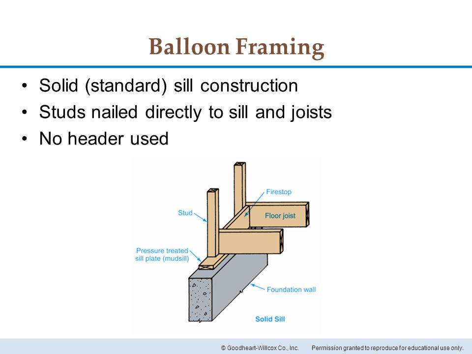 Sill and Floor Construction - ppt download