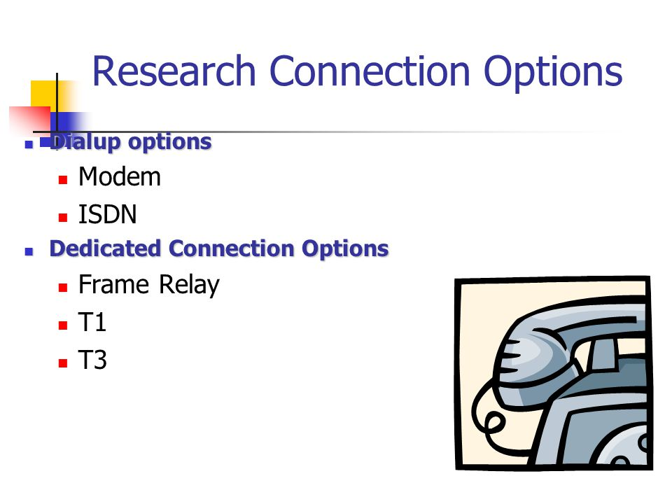 Research Connection Options