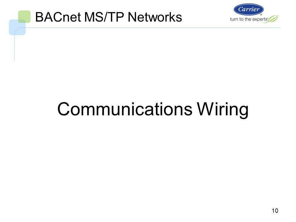 I-Vu Open System BACnet MS/TP Networks Bus Wiring. - ppt video ... Bacnet Communication Card Wiring Diagram on