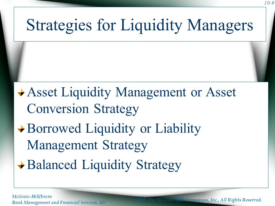 Strategies for Liquidity Managers