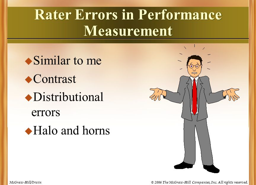 Rater Errors in Performance Measurement