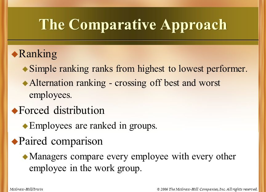 The Comparative Approach