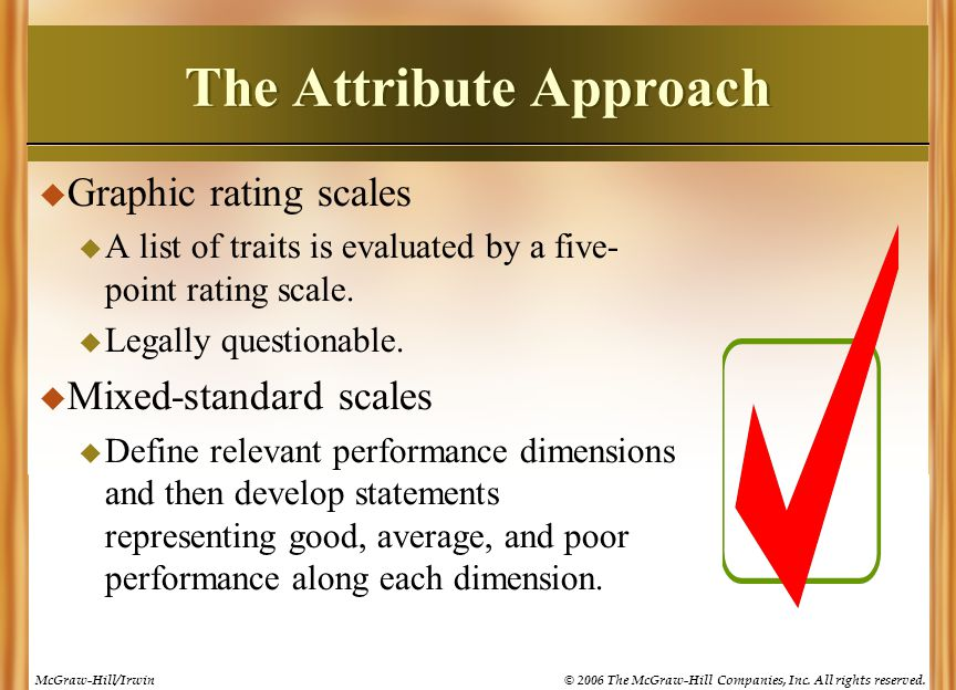 The Attribute Approach