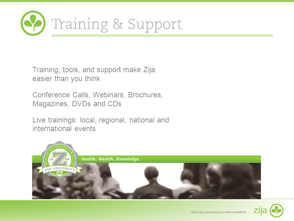 Training, tools, and support make Zija easier than you think