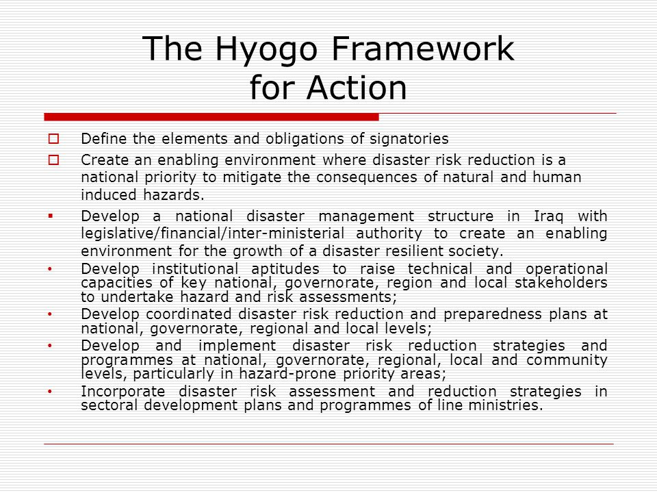 The Hyogo Framework for Action