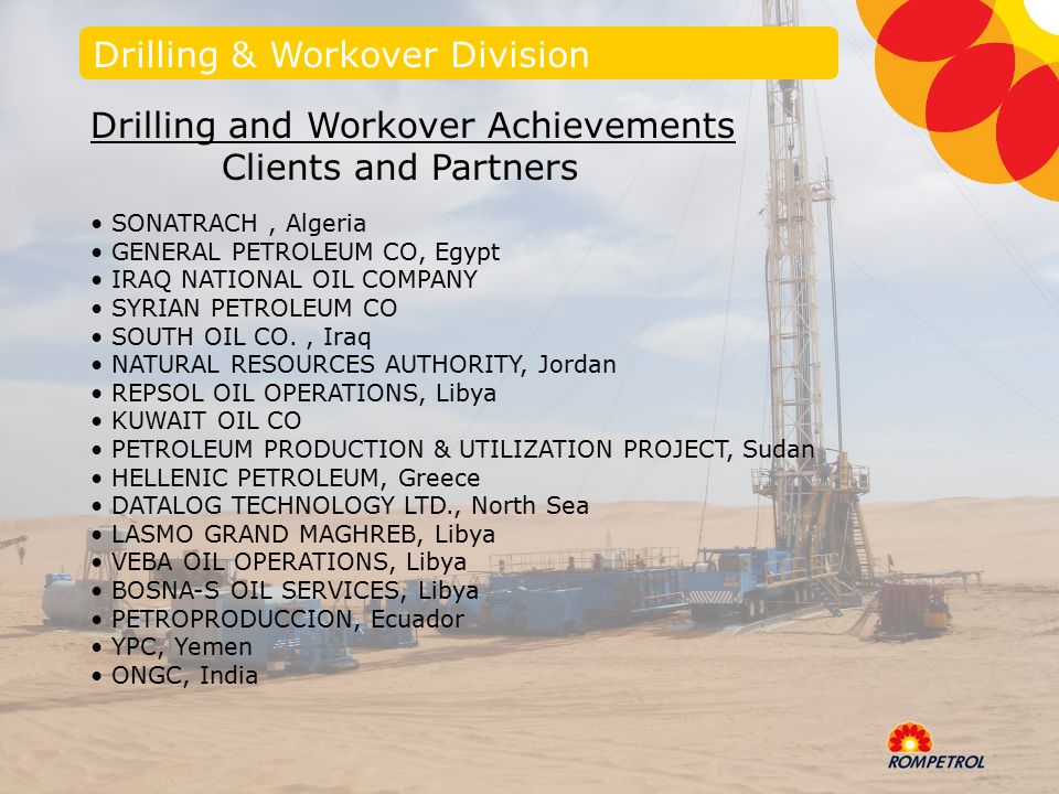 ROMPETROL DRILLING & WORKOVER - ppt video online download