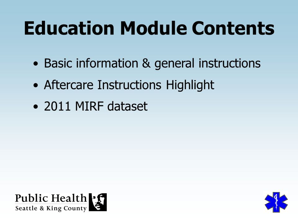 BLS Medical Incident Report Form Education Module for ppt download