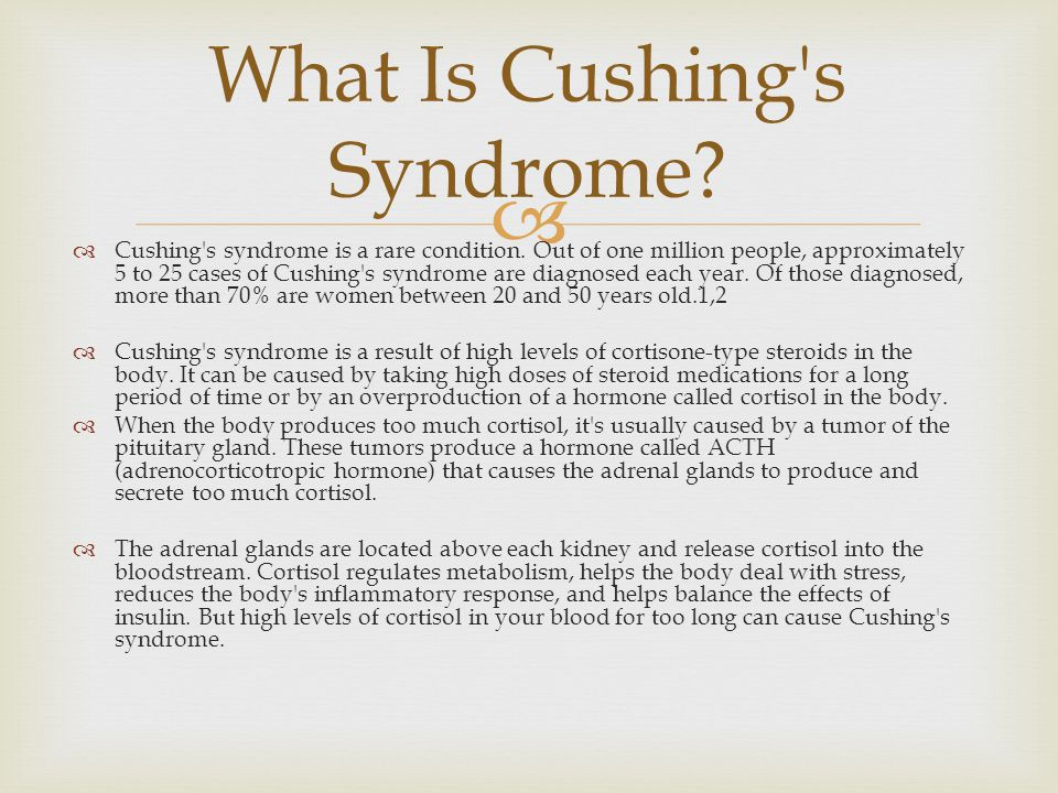 What Is Cushing s Syndrome