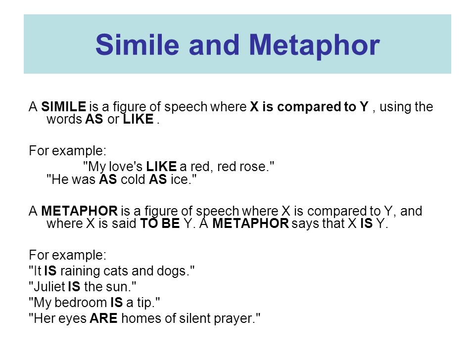 Similes And Metaphors Great Figures Of Speech Ppt Download