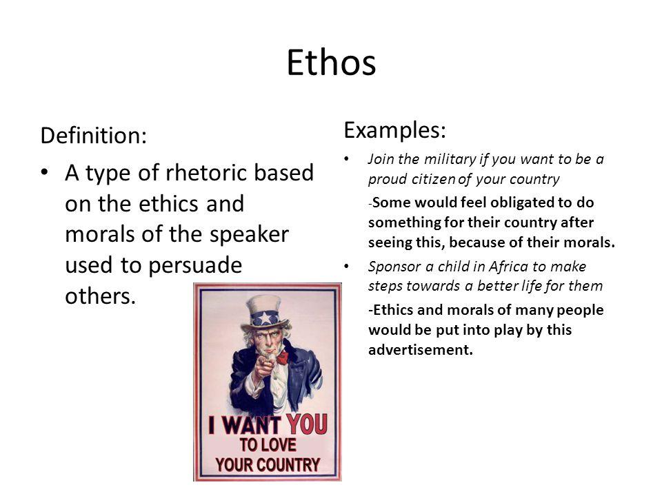 define ethos literary term