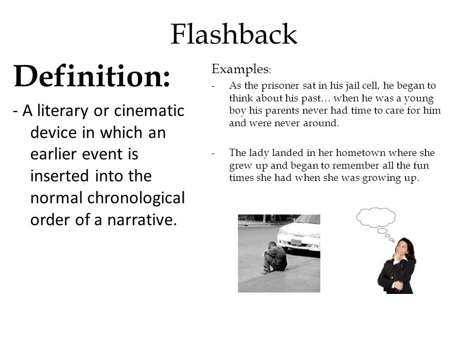 define flashback in literature