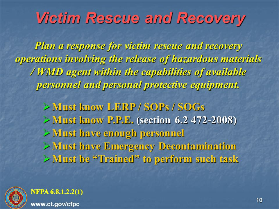 Victim Rescue and Recovery