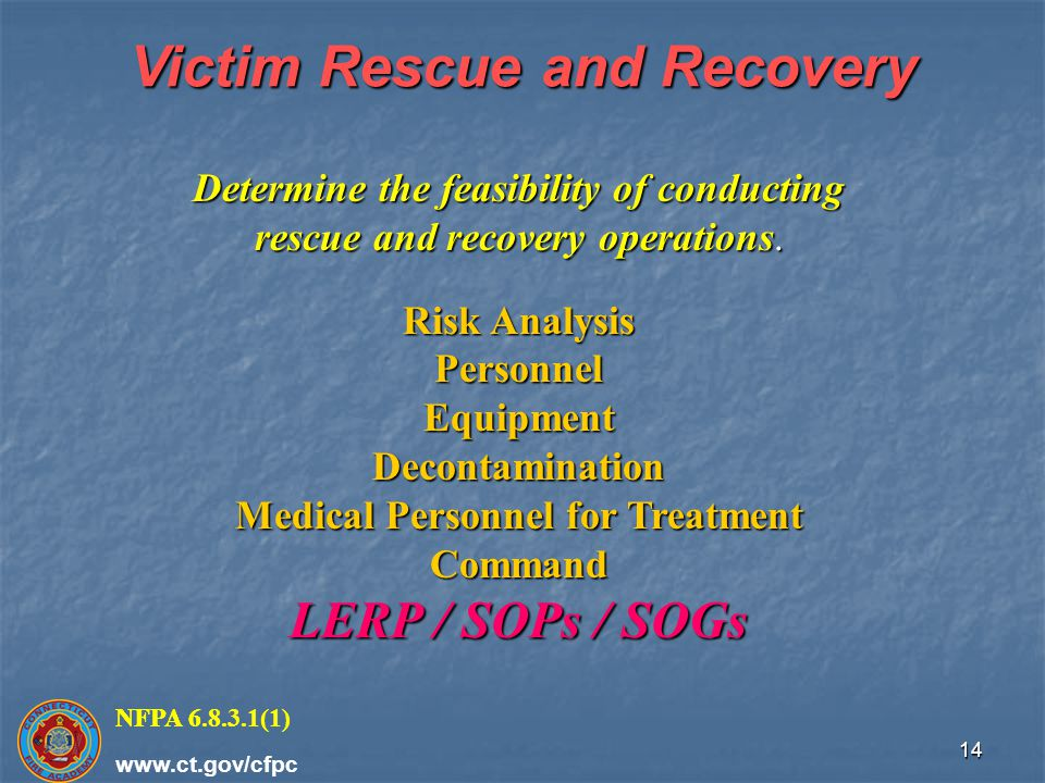 Victim Rescue and Recovery Medical Personnel for Treatment