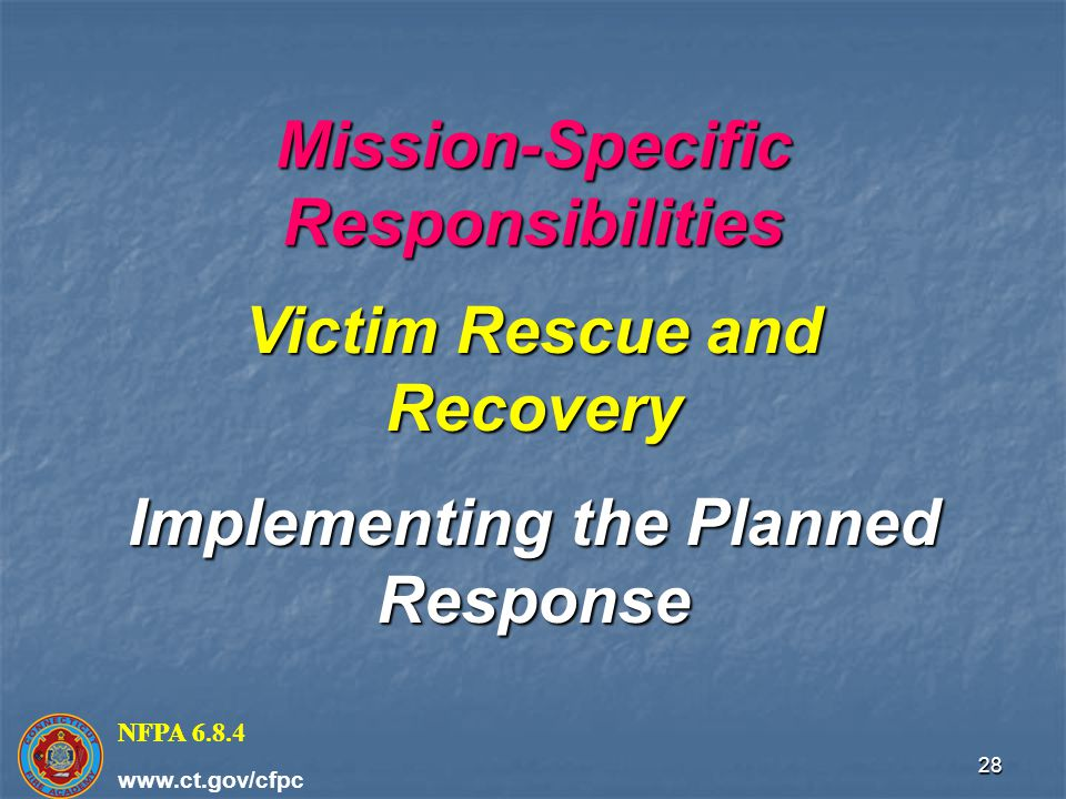 Mission-Specific Responsibilities