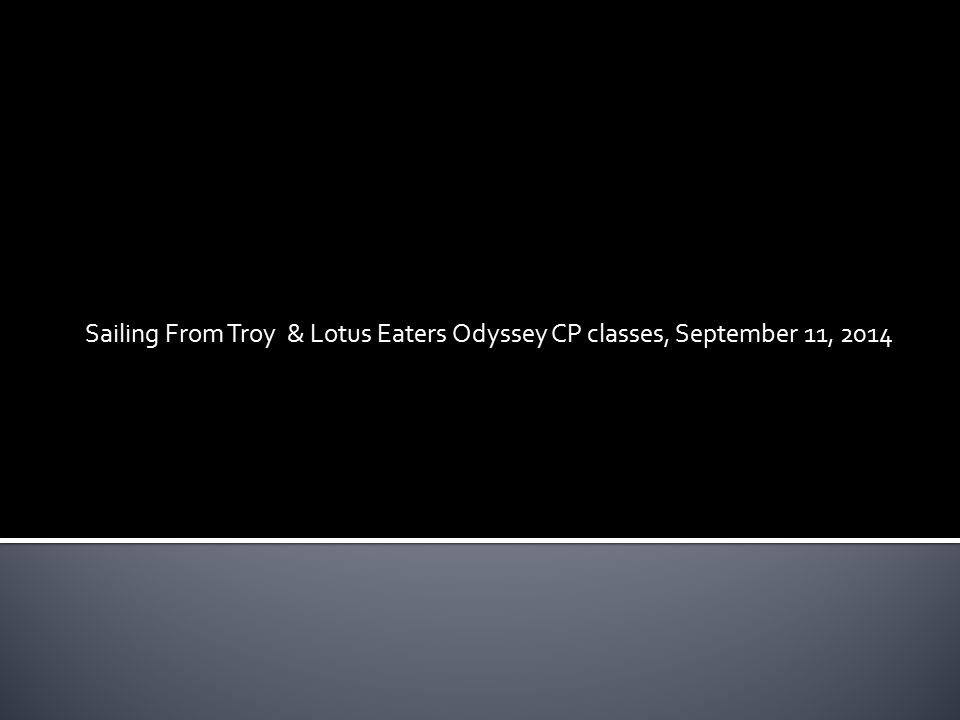 9th Grade Lit Comp The Odyssey Part ppt download