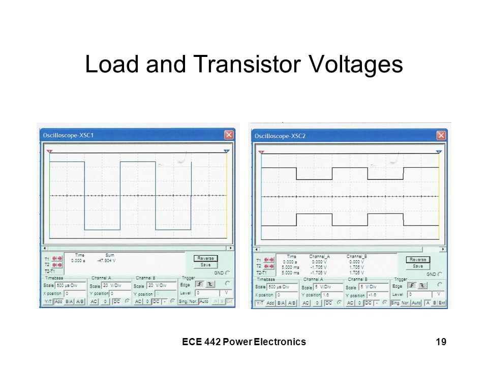 Load and Transistor Voltages