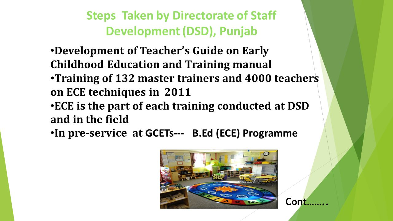 Steps Taken by Directorate of Staff Development (DSD), Punjab