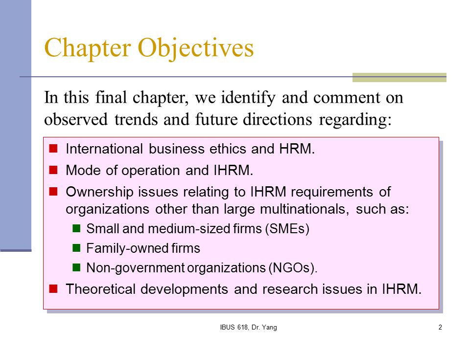 international hrm issues