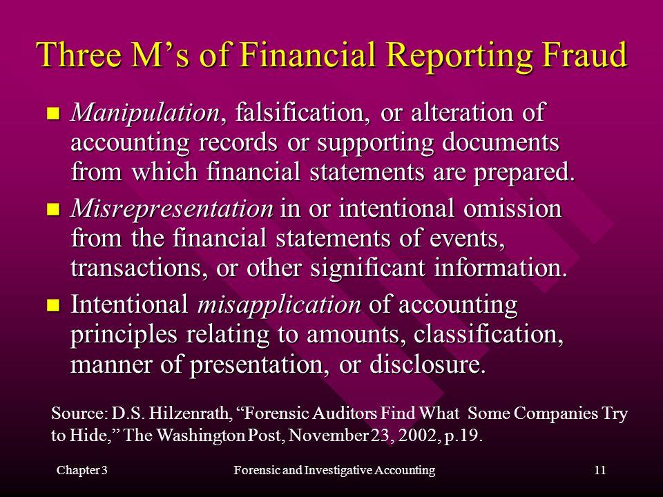 falsification of accounts
