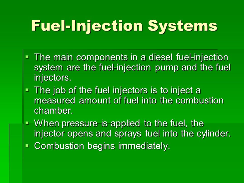 Fuel-Injection Systems