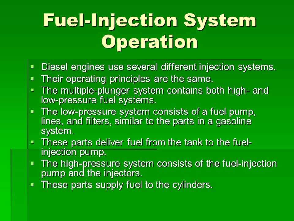 Fuel-Injection System Operation