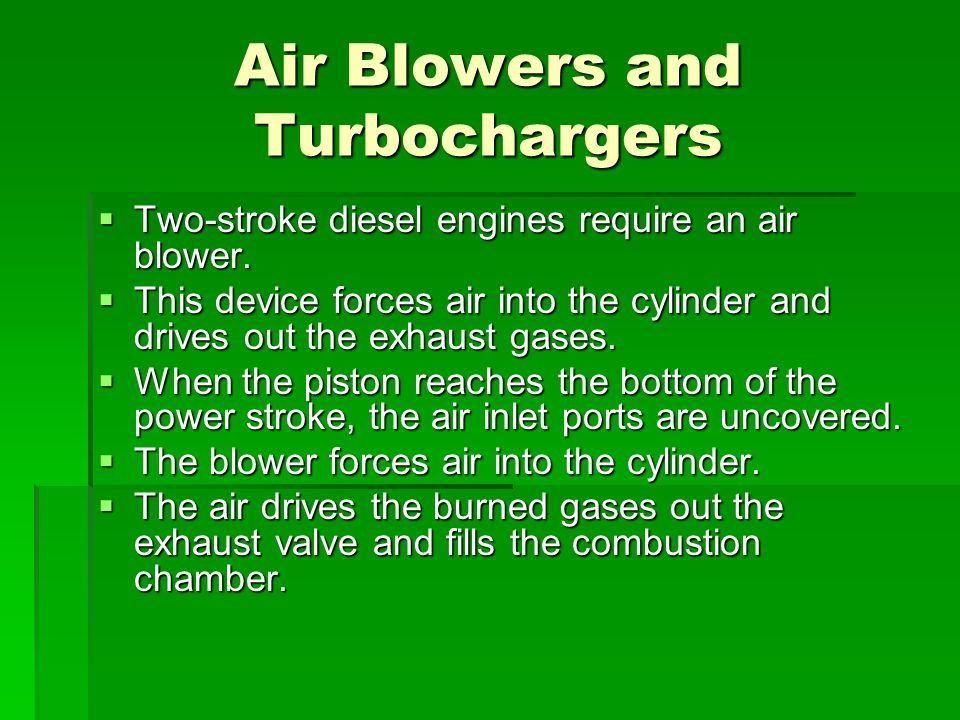Air Blowers and Turbochargers