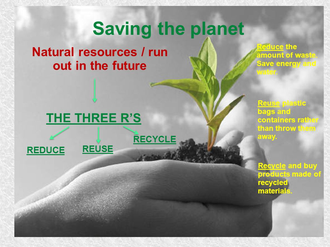 Natural resources / run out in the future