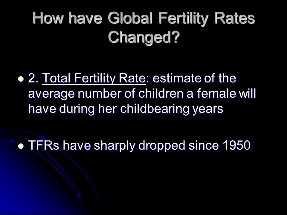 How have Global Fertility Rates Changed
