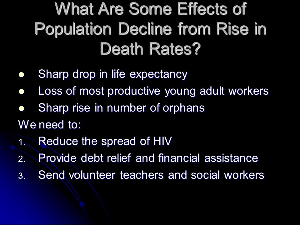 What Are Some Effects of Population Decline from Rise in Death Rates