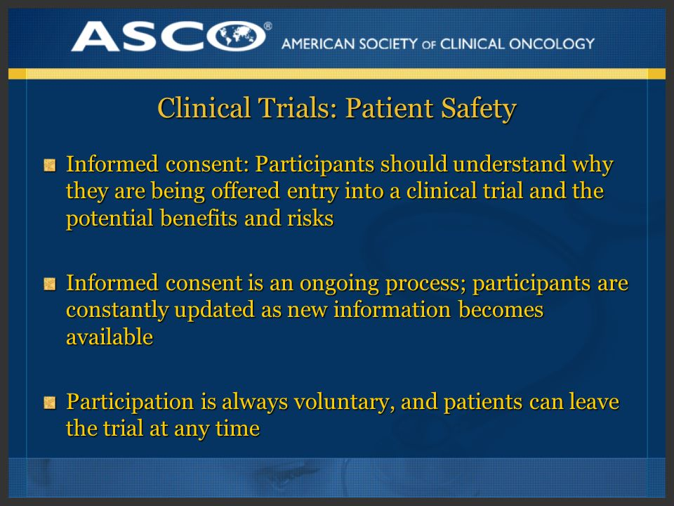 Clinical Trials: Patient Safety