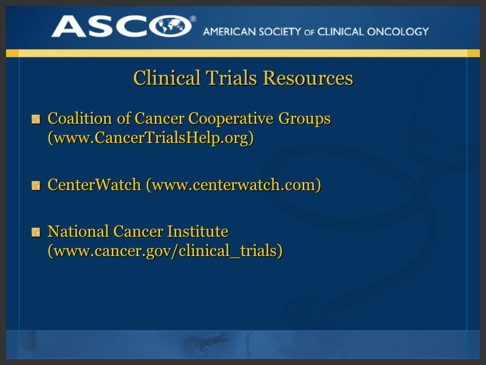 Clinical Trials Resources