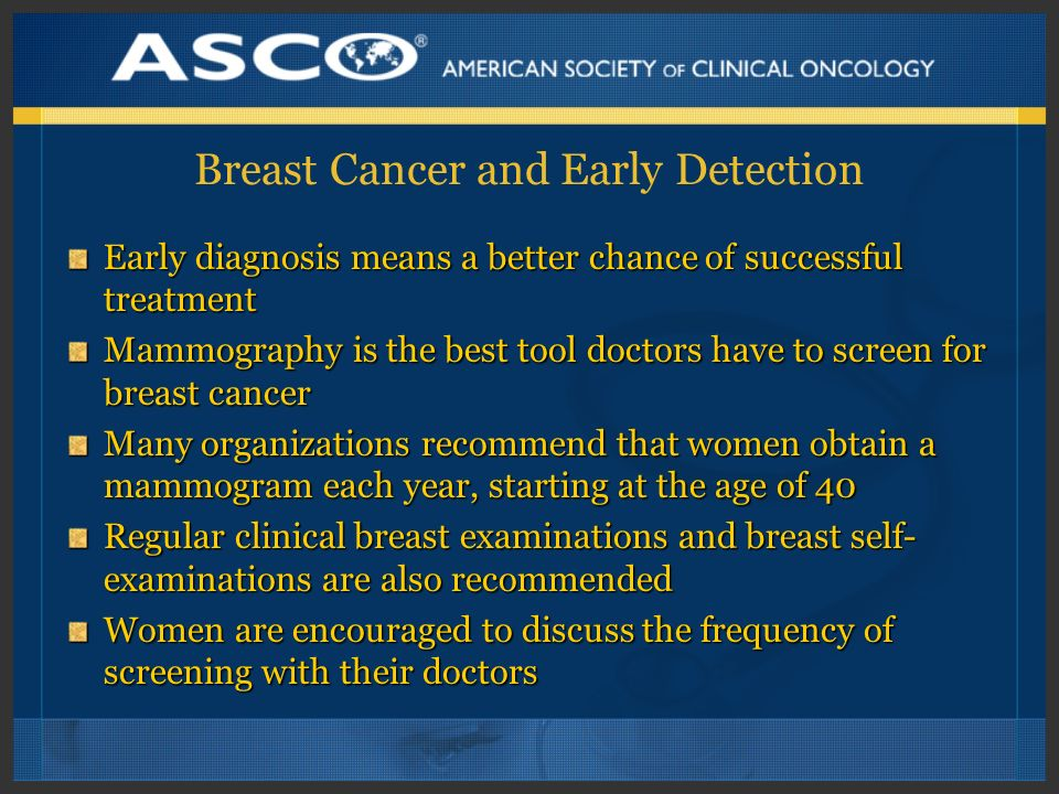 Breast Cancer and Early Detection