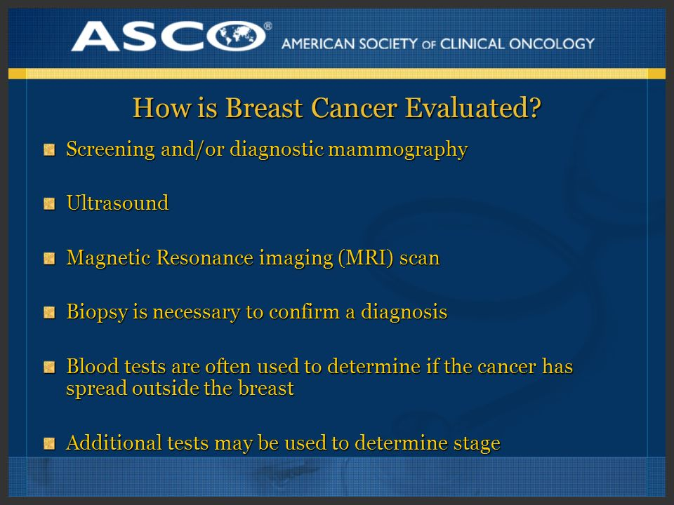 How is Breast Cancer Evaluated